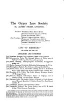 Journal Of The Gypsy Lore Society