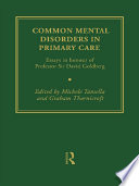 Common Mental Disorders In Primary Care Book PDF