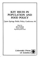 Key Issues In Population And Food Policy