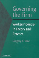 Pdf Governing the Firm
