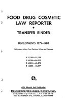 Food  Drug  Cosmetic Law Reporter Book