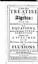 Pdf A New Short Treatise of Algebra;
