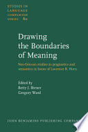 Drawing The Boundaries Of Meaning Book PDF