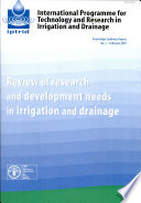Review Of Research And Development Needs In Irrigation And Drainage