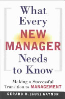 What Every New Manager Needs to Know