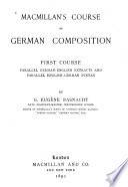 Macmillan's Course of German Composition