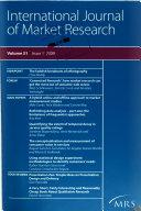 International Journal of Market Research Book