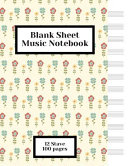 Blank Sheet Music 12 Staves