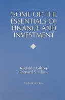 (Some Of) the Essentials of Finance and Investment