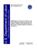 Pdf OSHA Needs to Evaluate the Impact and Use of Hundreds of Millions of Dollars in Penalty Reductions as Incentives for Employers to Improve Workplace Safety and Health