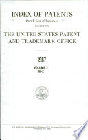 Index of Patents Issued from the United States Patent and Trademark Office