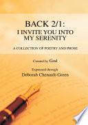 Back 2 1  I Invite You into My Serenity