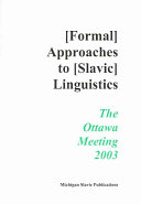 Annual Workshop on Formal Approaches to Slavic Linguistics
