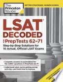 LSAT Decoded  PrepTests 62 71