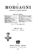 Il morgagni giornale indirizzato al progresso della medicina. Parte 2., Riviste