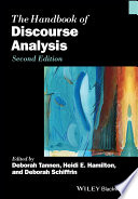 """The Handbook of Discourse Analysis"" by Deborah Tannen, Heidi E. Hamilton, Deborah Schiffrin"