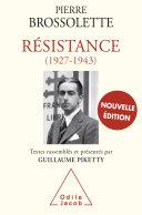 Résistance (1927-1943) Pdf/ePub eBook