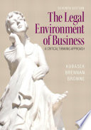 The Legal Environment of BusinessA Critical Thinking Approach