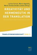 Pdf Kreativität und Hermeneutik in der Translation Telecharger