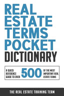 Real Estate Terms Pocket Dictionary PDF