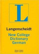 Langenscheidt S New College German Dictionary