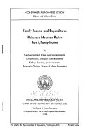 Family Income and Expenditures