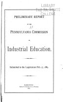 Preliminary Report of the Commission on Industrial Education