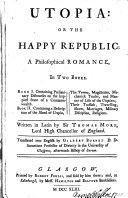 Pdf Utopia: or, The happy republic, tr. by G. Burnet