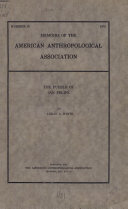 MEMOIRS OF THE AMERICAN ANTHROPOLOGICAL ASSOCIATION