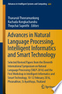 Advances in Natural Language Processing, Intelligent Informatics and Smart Technology