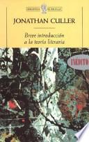 Breve introducción a la teoría literaria