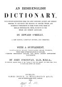 An Irish English dictionary  With a suppl  by J  O Donovan