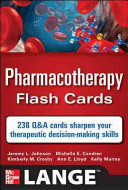 Pharmacotherapy Flash Cards Book