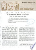 Effects of Mountain Home Developments on Surface Water Quality