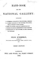 Hand book for the National Gallery