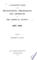 A Collective Index of the Transactions  Proceedings and Abstracts of the Chemical Society