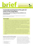 Sustainable development of the palm oil sector in the Congo Basin Pdf/ePub eBook