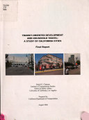 Transit oriented Development and Household Travel