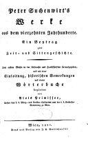 Peter Suchenwirt's Werke aus dem vierzehnten Jahrhunderte
