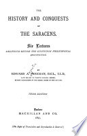 The History and Conquests of the Saracens Book
