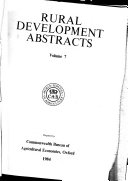 Rural Development Abstracts