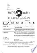 Revue du Marché commun et de l'Union européenne