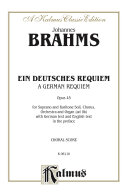 German Requiem (Ein Deutsches Requiem), Op. 45