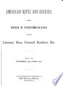American Notes And Queries