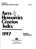 Arts   Humanities Citation Index Book