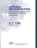 Applied Mathematics for the Managerial  Life  and Social Sciences Book PDF