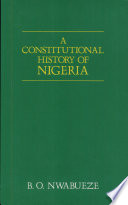 A Constitutional History of Nigeria