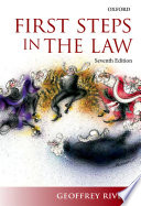 Cover of First Steps in the Law