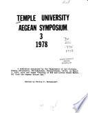 Temple University Aegean Symposium