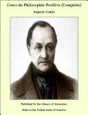 Pdf Cours de Philosophie Positive (Complete) Telecharger